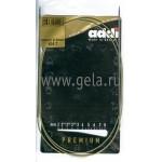 Спицы металлические круговые супергладкие 120 см (Addi) №2