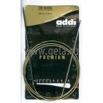 Спицы металлические круговые супергладкие 120 см (Addi) №2.5