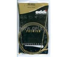 Спицы металлические круговые супергладкие 120 см (Addi),