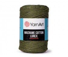 Macrame Cotton Lurex,75% хлопок - 13% полиэстер - 12% МЕТАЛЛИК ПОЛИЭСТЕР